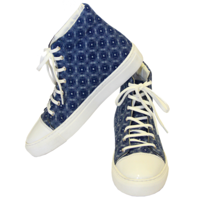 Indigo Shweshwe Hightops