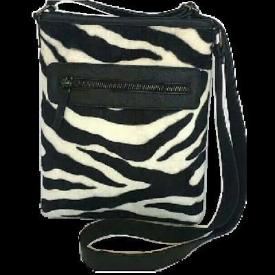 Zebra print sling bag