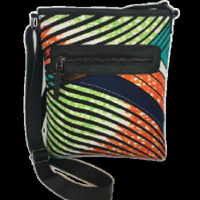 Wax print sling bag